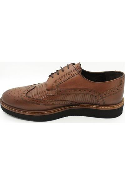 Serdar Yeşil Taba Deri Oxford Bağcıklı Erkek Klasik Ayakkabı