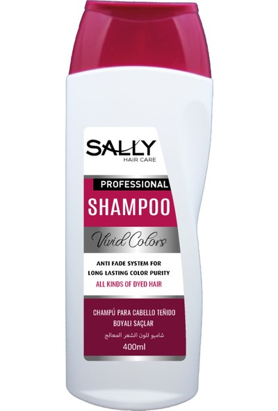 Sally Profesyonel Şampuan Vivid Colors 400 ml - Boyalı Saçlar