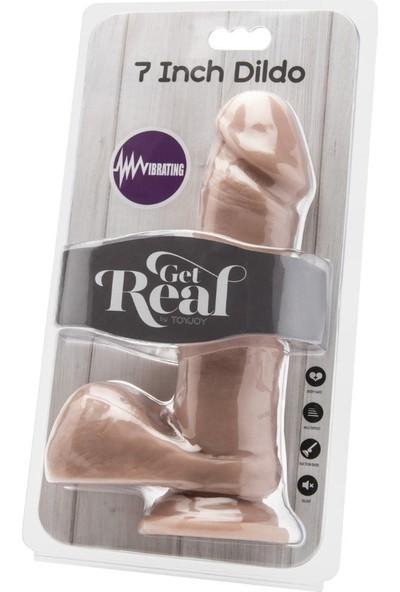 Toyjoy 18 cm Yumuşak Ten Dokulu Realistik Titreşimli Penis