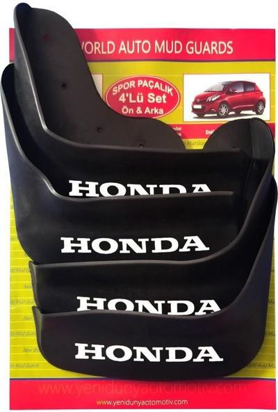 Yeni Dünya Honda City 4'lü Paçalık-Çamurluk-Tozluk