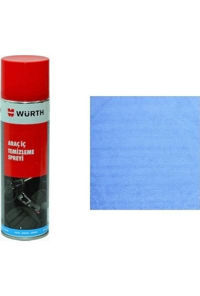 Würth Araç İçi Temizleme ve Köpük Temizlik Spreyi + Temizlik Bezi