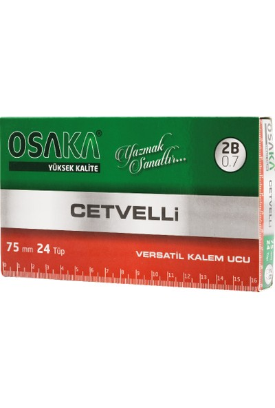 Osaka Cetvelli 2b Kalem Ucu 75 mm 0.7 mm 24'lü