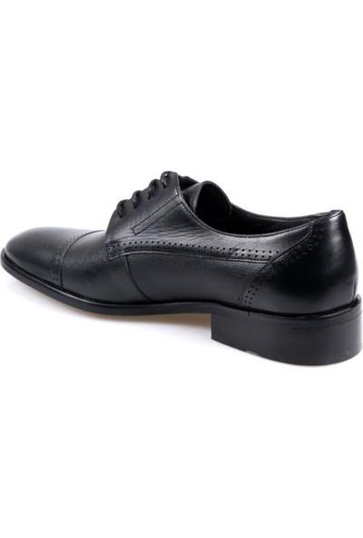 Fosco 1121 Erkek Klasik Siyah Deri Ayakkabı