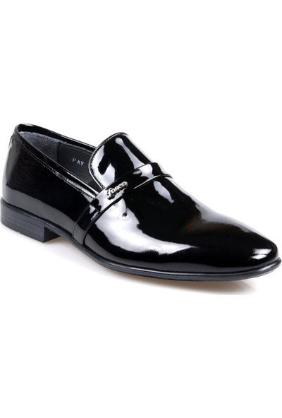 Fosco 9053 Siyah Erkek (39-44) Klasik Rugan Ayakkabı
