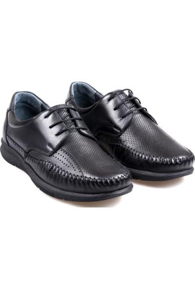James Franco 021 Ortapedik Siyah Günlük Erkek Deri Ayakkabı