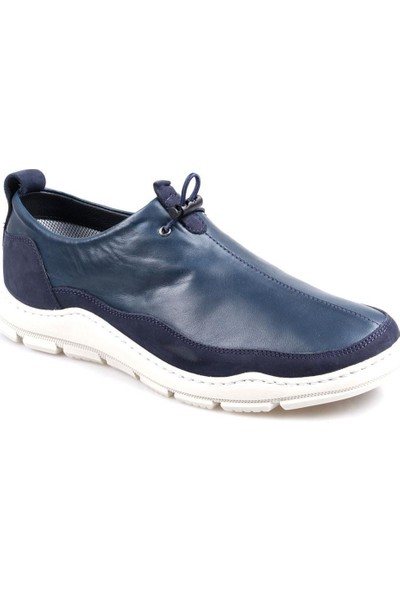 James Franco 5020 Ortapedik Lacivert Günlük Erkek Deri Ayakkabı