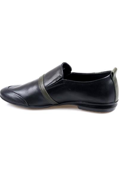James Franco 812 Ortapedik Siyah Günlük Erkek Deri Ayakkabı