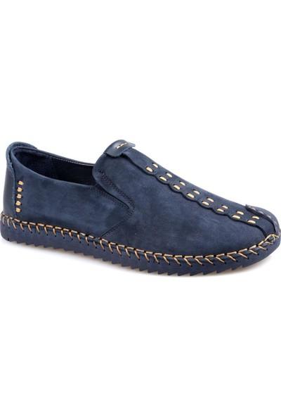 James Franco 4622 Ortapedik Lacivert Günlük Erkek Nubuk Deri Ayakkabı