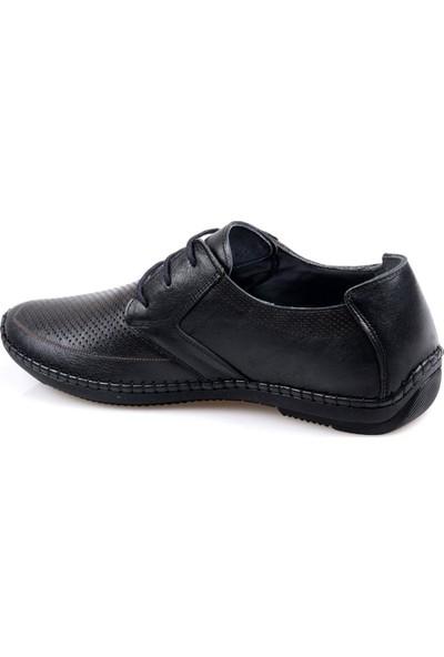Tardelli 3667 Ortapedik Siyah Günlük Erkek Deri Ayakkabı