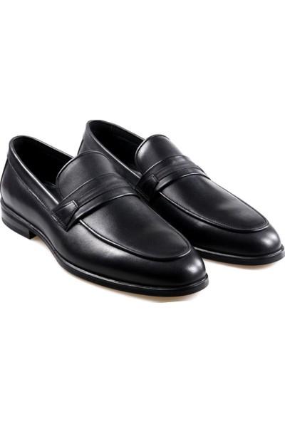 James Franco 16594 Siyah Klasik Erkek Deri Ayakkabı