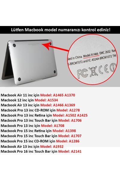 "Codegen Apple 13"" Macbook Pro A1706 A1708 A1989 A2159 Şeffaf Kılıf Koruyucu Kapak CMPT-133T (2016-2017-2018-2019 Üretim)"