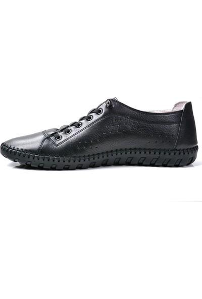 Paul Branco M-73180 Hakiki Deri Siyah Günlük Erkek Ayakkabı
