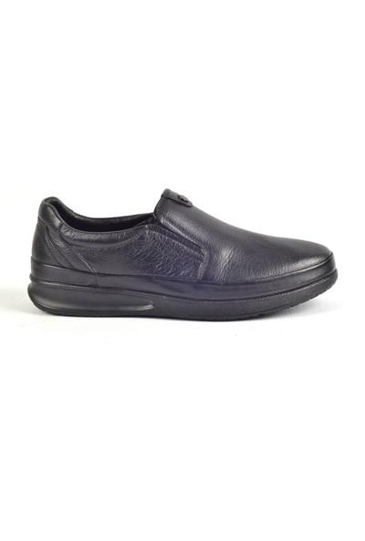 Paul Branco M-86041 Hakiki Deri Siyah Günlük Erkek Ayakkabı