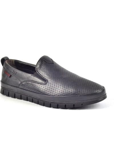 Paul Branco M-93204 Hakiki Deri Siyah Günlük Erkek Ayakkabı