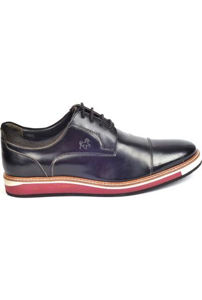 Paul Branco M-65534 Hakiki Deri Siyah Günlük Erkek Ayakkabı