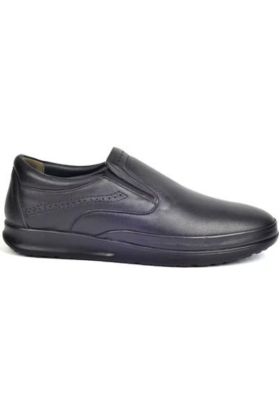 Paul Branco M-83045 Hakiki Deri Siyah Günlük Erkek Ayakkabı