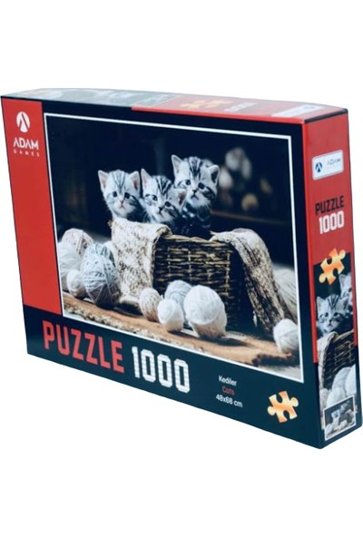 Adam Games Kedi Temalı 1000 Parça Puzzle
