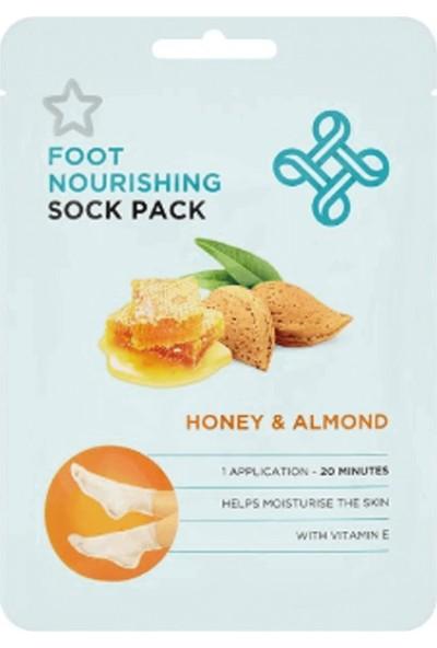 Superdrug Foot Honey&Almond Peelıng Socks