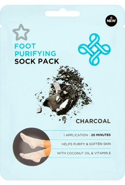 Superdrug Foot Pack Charcoal Peelıng Socks