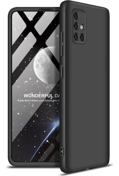 Kılıfist Samsung Galaxy A71 Kılıf Zore 360 Tam Koruma 3 Parça Ays Kapak Siyah