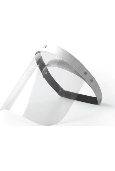 Wexta Tek Camlı Yüz Koruyucu Siperlik Beyaz