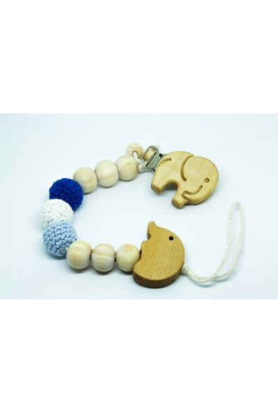 Gift For Baby Shop Emzik Zinciri Fil Figürlü Mavi
