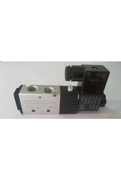 Motion Elektrik Kontrollü Tek Bobin Pnömatik Valfler 1/4 5-2 Tek Bobin Valf G Gövde