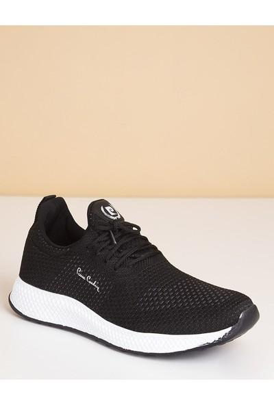 Pierre Cardin Erkek Günlük Spor Ayakkabı-Siyah-Beyaz