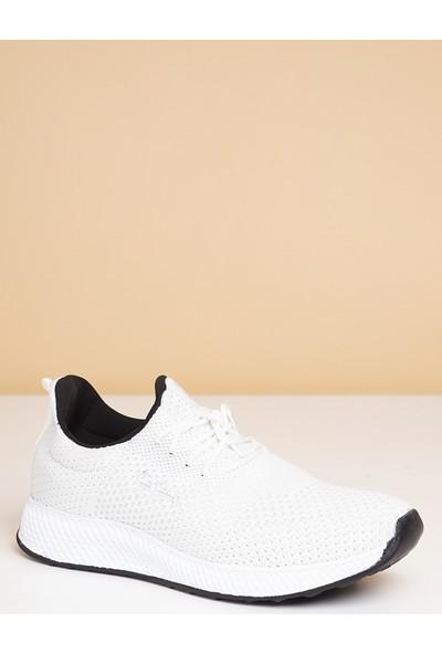 Pierre Cardin Erkek Günlük Spor Ayakkabı-Beyaz