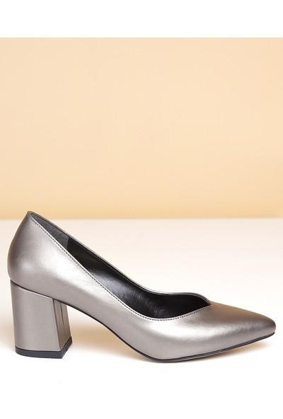 Pierre Cardin Kadın Topuklu Ayakkabı-Platin