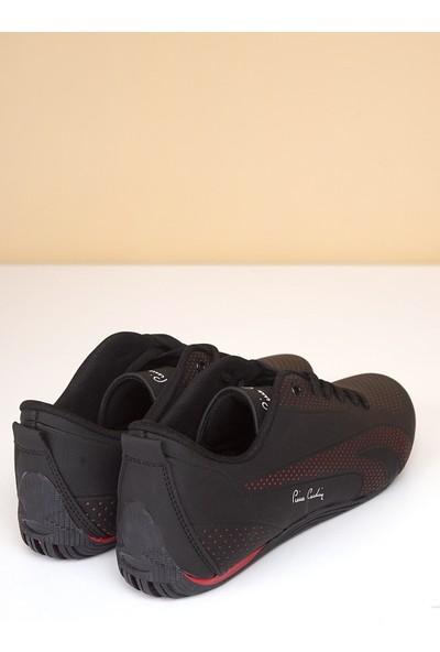 Pierre Cardin Erkek Günlük Spor Ayakkabı-Siyah-Kırmızı