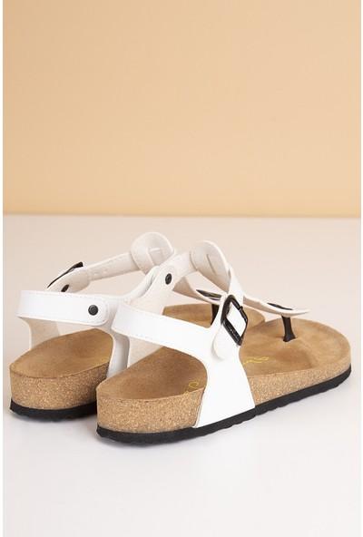 Pierre Cardin Kadın Günlük Sandalet-Beyaz