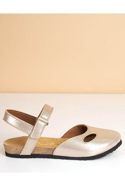Pierre Cardin Kadın Sandalet-Altın