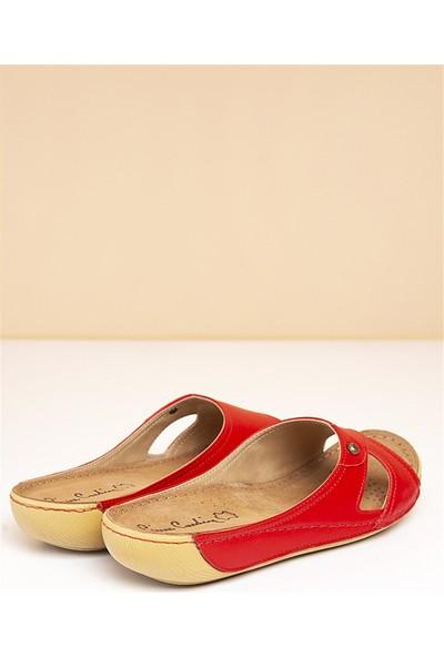 Pierre Cardin Kadın Terlik-Kırmızı