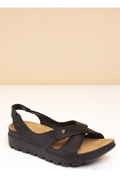 Pierre Cardin Kadın Sandalet-Siyah