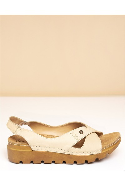 Pierre Cardin Kadın Sandalet Pc-1380-3630-9427695 02-Bej