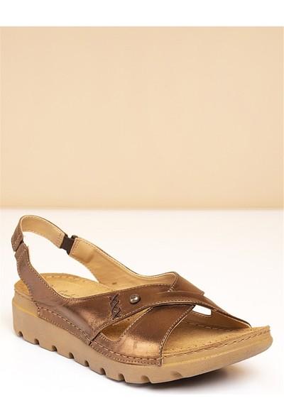 Pierre Cardin Kadın Sandalet-Bronz