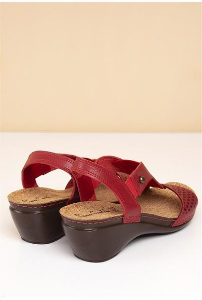 Pierre Cardin Kadın Sandalet-Kırmızı