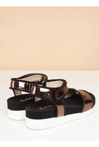 Pierre Cardin Kadın Günlük Sandalet-Bronz