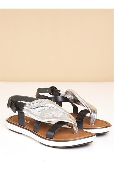 Pierre Cardin Kadın Sandalet-Gümüş