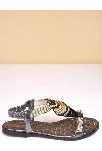 Pierre Cardin Kadın Günlük Sandalet-Platin