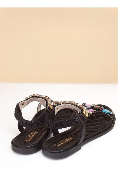 Pierre Cardin Kadın Günlük Sandalet-Siyah