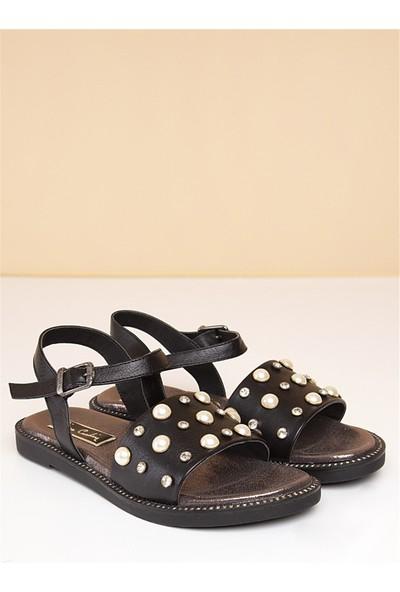 Pierre Cardin Kadın Sandalet Siyah