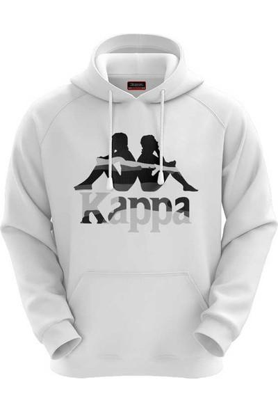Kappa Erkek Kapüşonlu Sweatshirt Clohe Beyaz