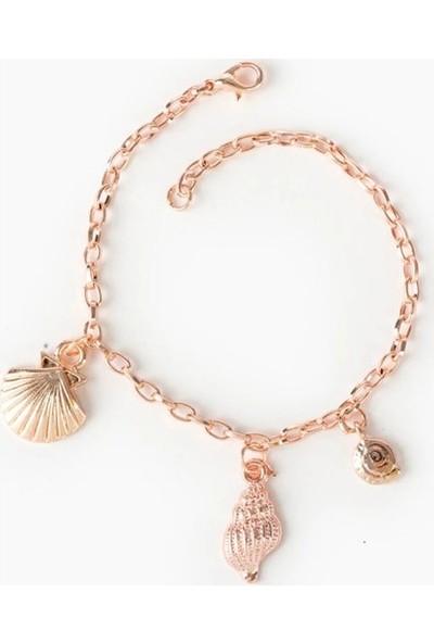 Beyza Teymur Rose Bijuteri Kaplama Deniz Kabuğu ve Midye 18 cm