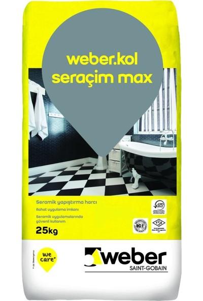 Weber Kol. Seraçim Max Gri Seramik Yapıştırıcı 25 kg