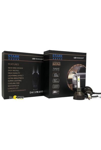 Stark Supervision Mini / Slim H3 Csp LED Xenon 8000 Lümen Şimşek Etkili 6000 Kelvin Beyaz Renkli Far Ampulü