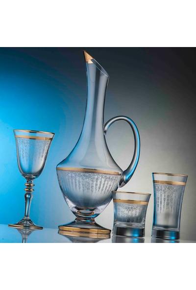 Kcd Cam Dekor Di̇zayn Efruz Altın 31 Parça Su Takımı