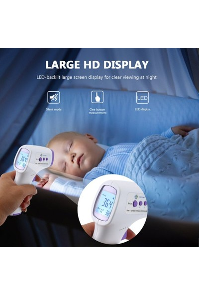 Twinix Temassız Dijital Ateş Ölçer LCD Ekran