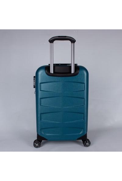 Ehs 5158 Abs Büyük Boy 8 Tekerlek Valiz Mavi